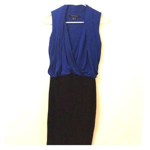 French Connection Royal Blue & Black Dress